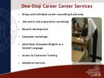 one stop career center services