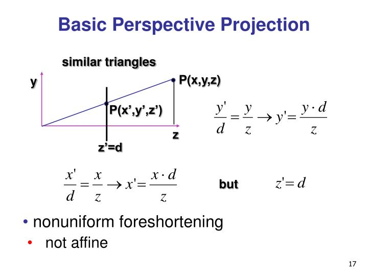 Basic Perspective Projection