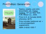 print edition general info