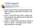 child support imputing income