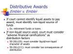 distributive awards embler v embler