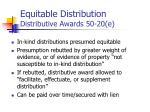 equitable distribution distributive awards 50 20 e
