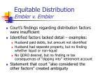 equitable distribution embler v embler