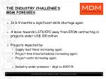 the industry challenge s mdm foresees