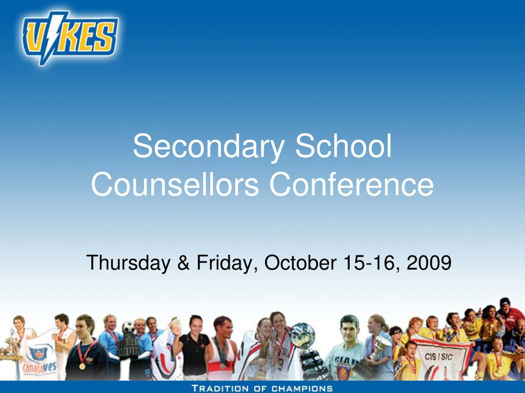 secondary school counsellors conference l.