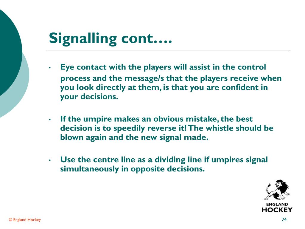 Signalling cont….