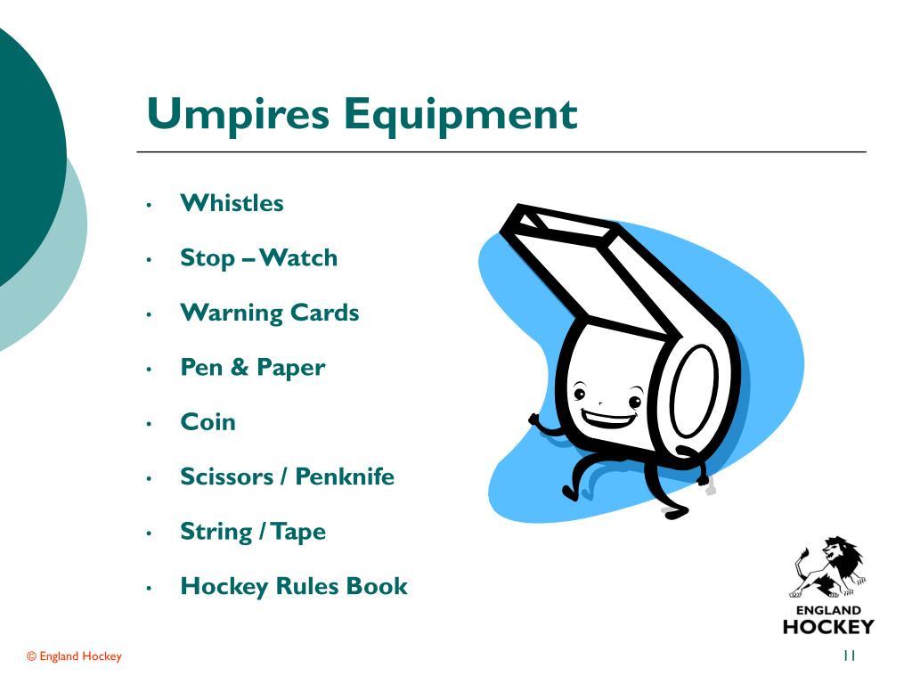 Umpires Equipment