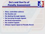 do s and don ts of penalty assessment