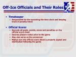 off ice officials and their roles