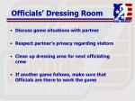 officials dressing room