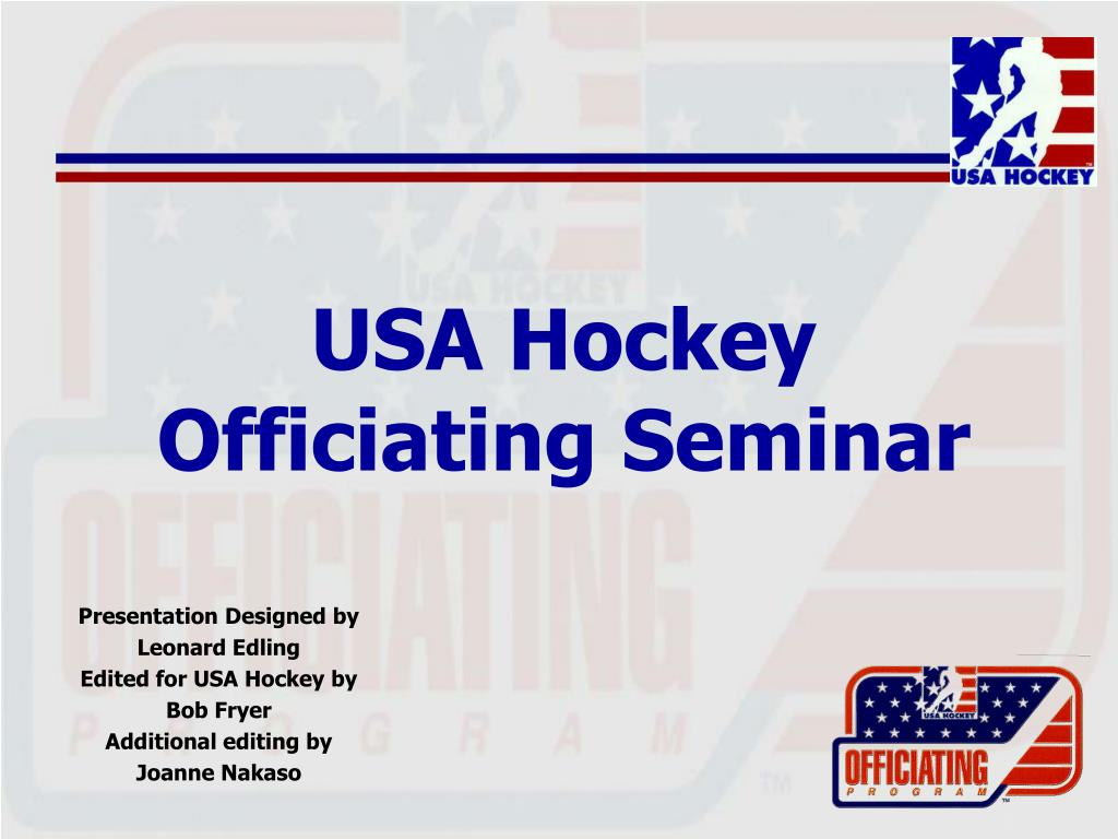 usa hockey officiating seminar l.