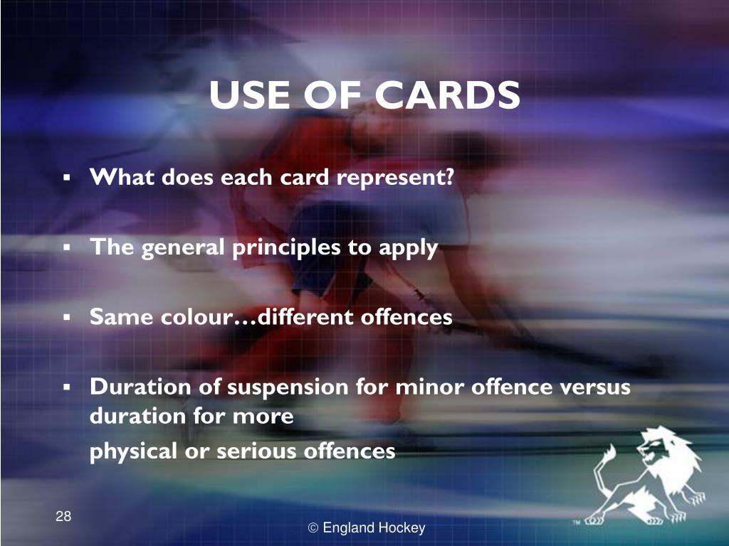 USE OF CARDS