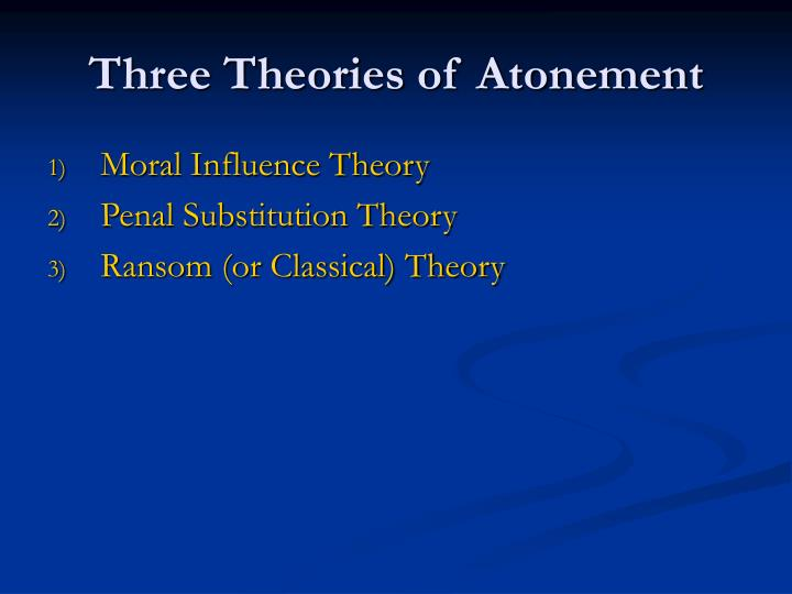 Three Theories of Atonement