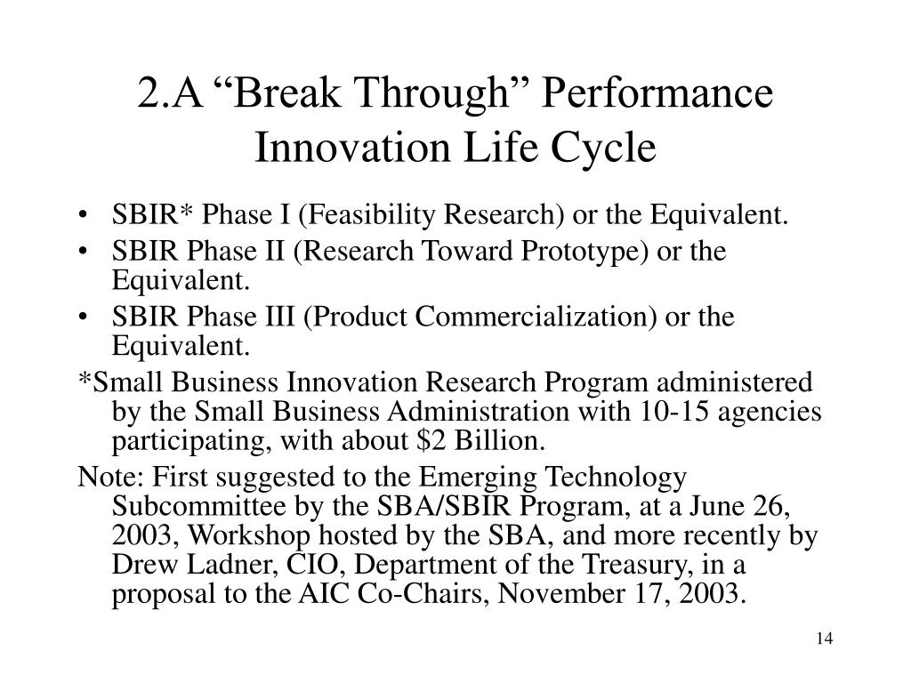 """2.A """"Break Through"""" Performance Innovation Life Cycle"""