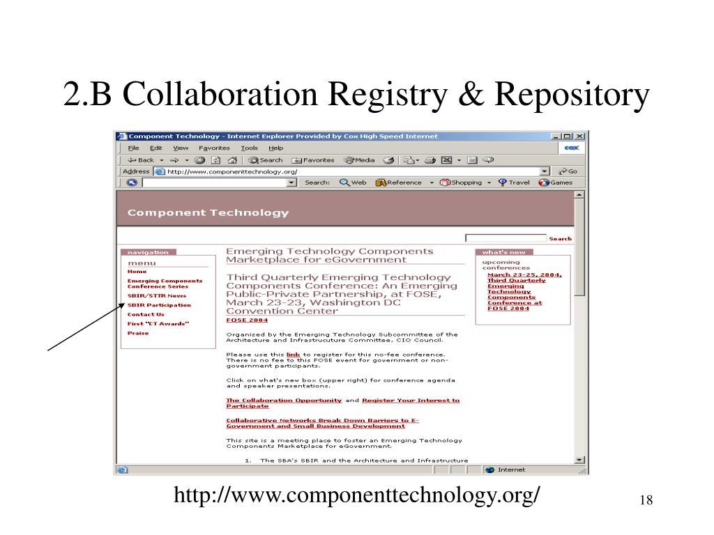 2.B Collaboration Registry & Repository