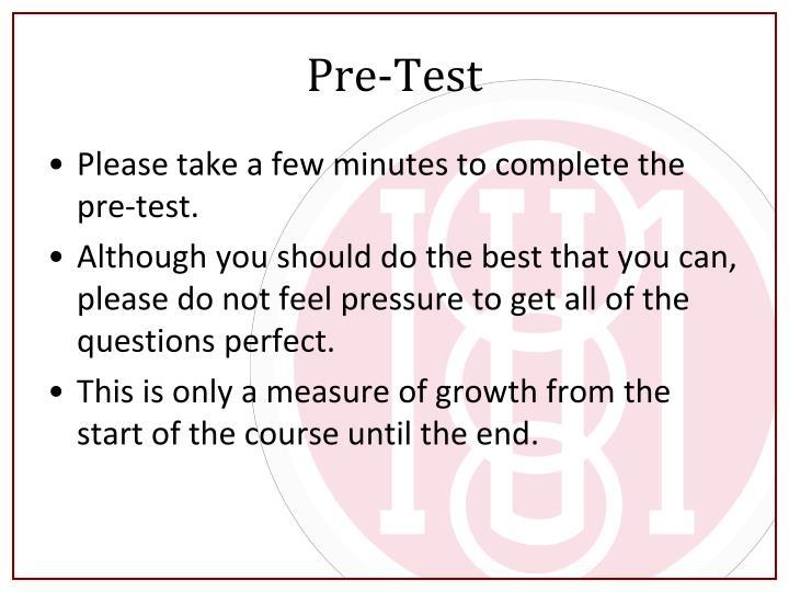 Pre-Test