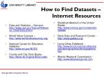 how to find datasets internet resources