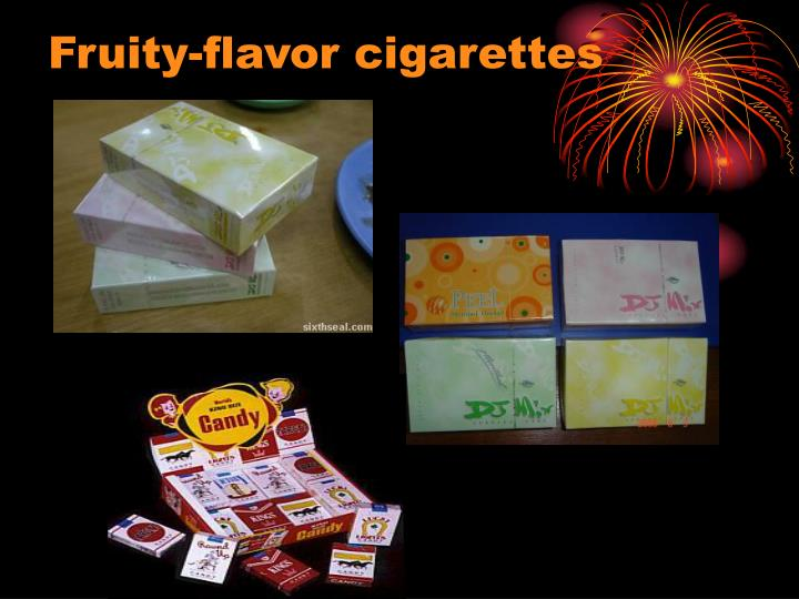 Fruity-flavor cigarettes