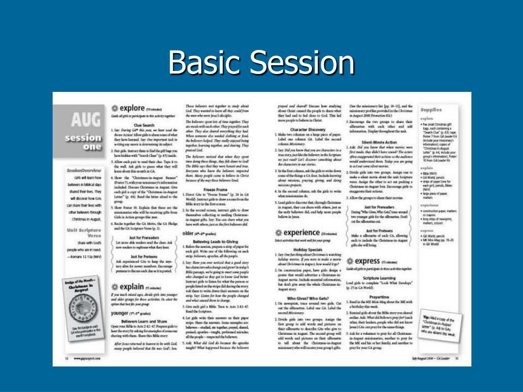 Basic Session