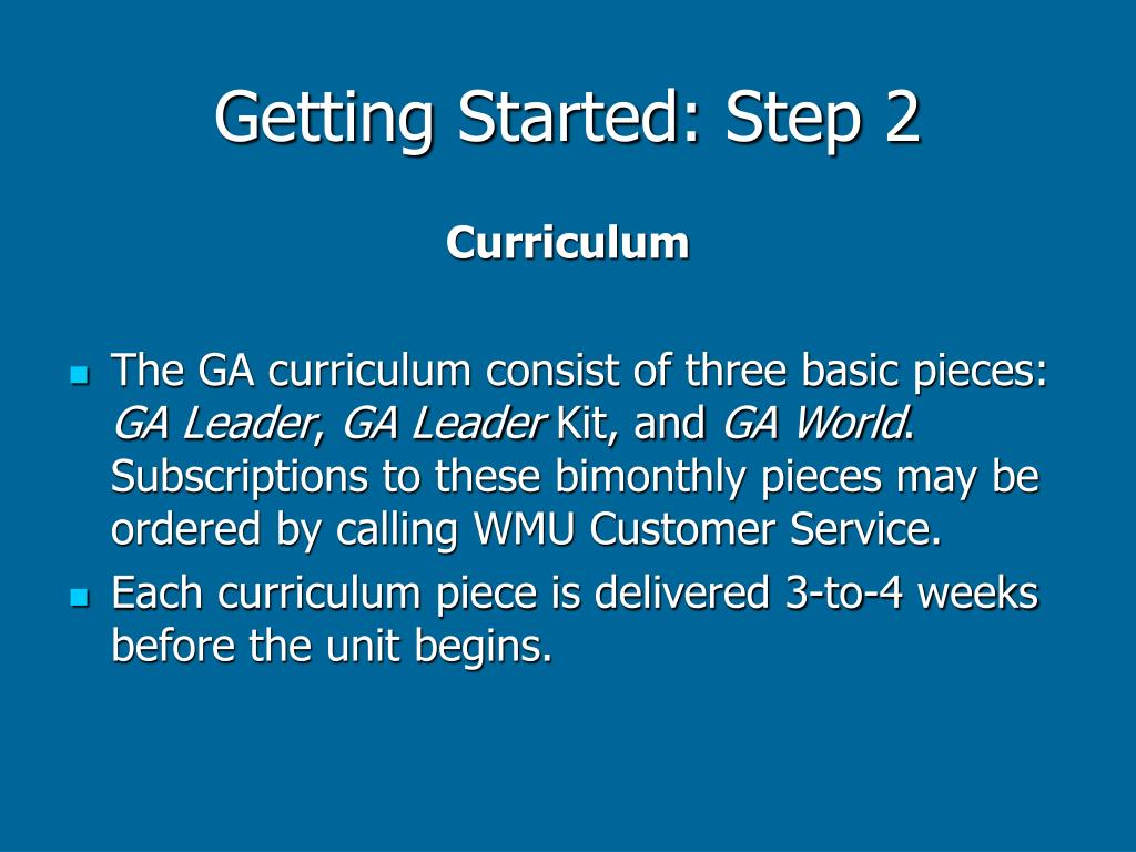 Getting Started: Step 2