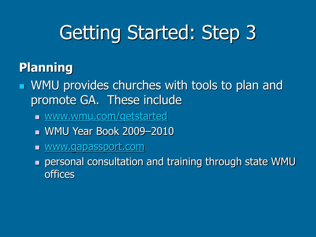 Getting Started: Step 3