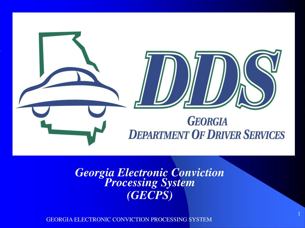 Georgia Electronic Conviction Processing System