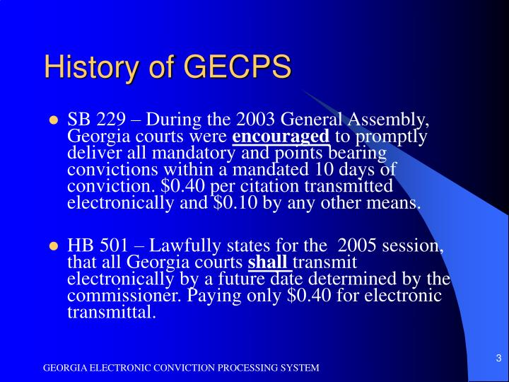 History of gecps