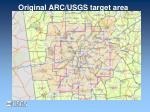 original arc usgs target area
