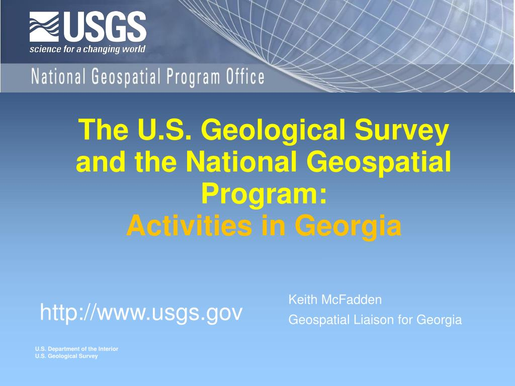 the u s geological survey and the national geospatial program activities in georgia l.