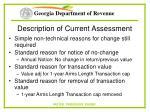 description of current assessment49