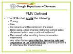 fmv defined9
