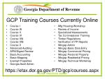 gcp training courses currently online