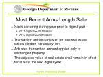 most recent arms length sale