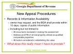 new appeal procedures55