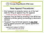 new appeal procedures56