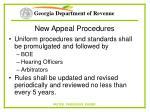 new appeal procedures57