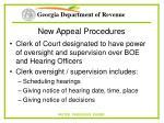 new appeal procedures58