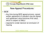 new appeal procedures61