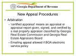 new appeal procedures62