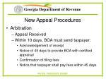 new appeal procedures63