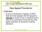 new appeal procedures64