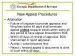 new appeal procedures66