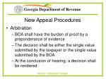 new appeal procedures68