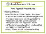 new appeal procedures70