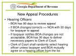 new appeal procedures71