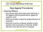 new appeal procedures72