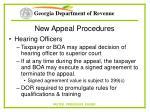 new appeal procedures73