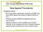 new appeal procedures74