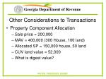 other considerations to transactions25
