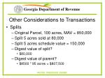 other considerations to transactions26